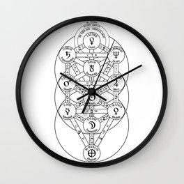 Kabbalah Tree Of Life Wall Clock