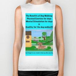 Dog Walking Shirt Series #4 Biker Tank