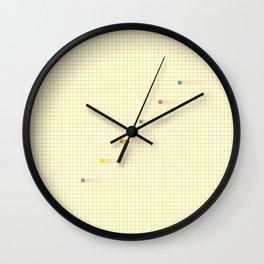 Checked Pattern_K Wall Clock