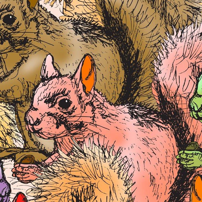 Squirrels Parade Leggings