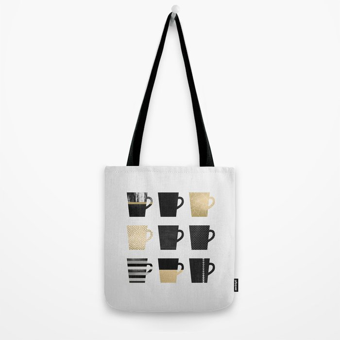 Coffee Mugs Tote Bag