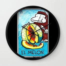 Loteria Ape #11: El Melon Wall Clock