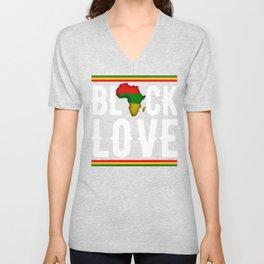 Black History Month Black Lover Pride African Gift Unisex V-Neck