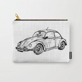 Beetle Lino Print Carry-All Pouch