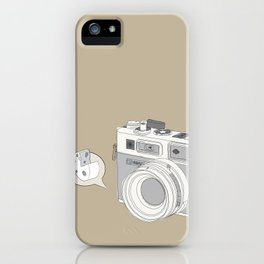 "Yashica Camera - ""Say Cheese"" - soft-brown iPhone Case"