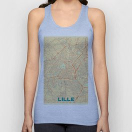 Lille Map Retro Unisex Tank Top