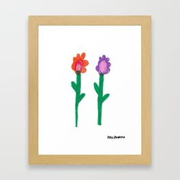 Flower Pals 2 Framed Art Print
