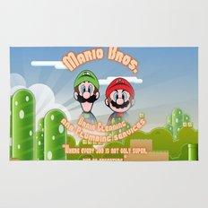 Super Mario Bros. Drain Cleaning & Plumbing Service Rug