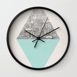 a faded tumult Wall Clock
