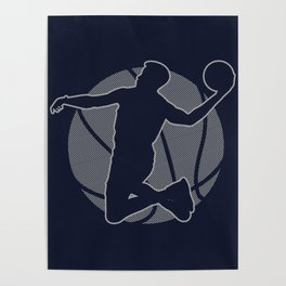 Basketball Player II (monochrome) Poster