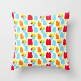 Hypersaturated Summer Treats Throw Pillow