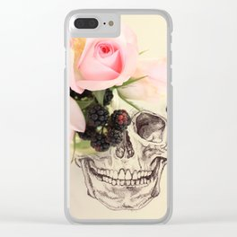 roses and blackberries Clear iPhone Case