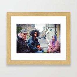 Parisian Mugshots - LazyKat Crew (Gueules de Parisiens) Framed Art Print