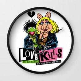 LOVE KILLS Wall Clock