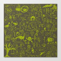doodle Canvas Prints featuring Doodle by Sarinya  Withaya