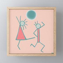 Dancing In The Moonlight Framed Mini Art Print