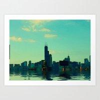 Rainy Days Chicago #2 Art Print