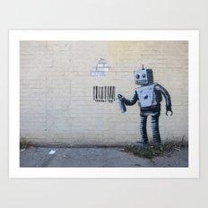 Banksy Robot (Coney Island, NYC) Art Print