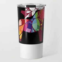 Horse pyramid  Travel Mug