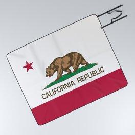 California Republic Flag - Bear Flag Picnic Blanket