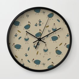 Fun Chicken Art Wall Clock