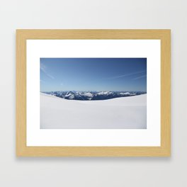 Cloudless Summit Framed Art Print