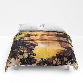 Leonardo's Mona Lisa & Botticelli's Flora Comforters