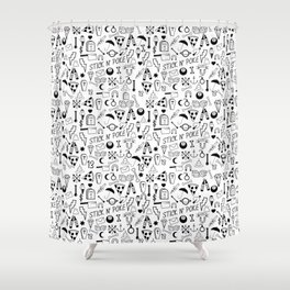 Stick and Poke Tattoo Shower Curtain