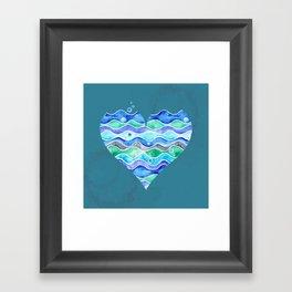 A Sea of Love (blue) Framed Art Print