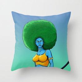 Art Is War (Her) Throw Pillow