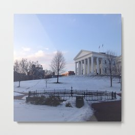 Virginia State Capitol, Snow Metal Print