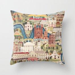 Vilnius, the capital city of Lithuania Throw Pillow