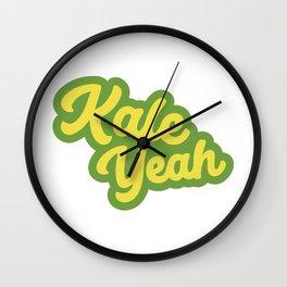 Kale Yeah Wall Clock