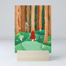 ENCHANTED LITTLE HOOD Mini Art Print