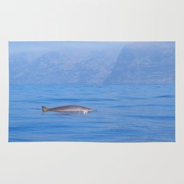 Beaked whale in the mist Rug
