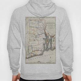 Map of Rhode Island 1818 Hoody