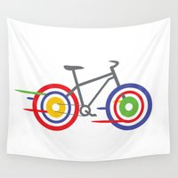 bike Wall Tapestries featuring Bike! by Alice Wieckowska