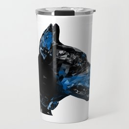 Dog Lover Art Blue Doberman Abstract Modern Animal Art Decor Gift Travel Mug