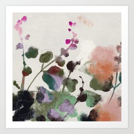 floral abstract summer autumn Art Print