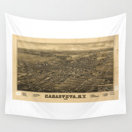 Aerial View of Canastota, New York (1885) Wall Tapestry