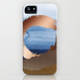 Inspiration: Gold, Copper And Blue iPhone Case