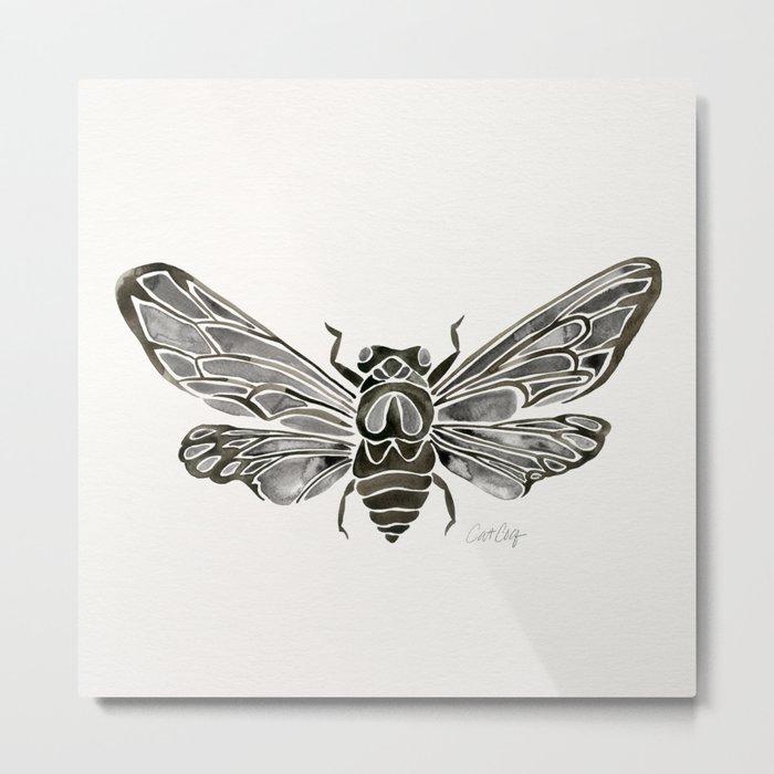 Summer Cicada – Black Palette Metal Print