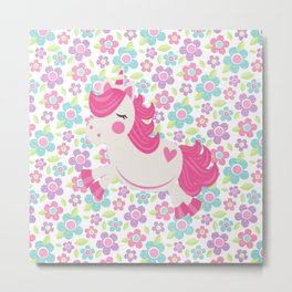 Lovely Unicorn Metal Print