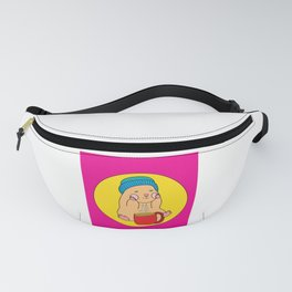 Sweet Vintage Guinea Pig With Coffee Fanny Pack