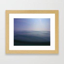 Silk Waves Framed Art Print