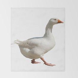 Lovely Weather For Ducks Vector Throw Blanket