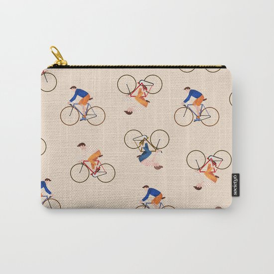 Bike Pattern Carry-All Pouch