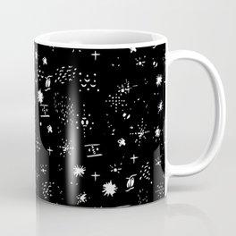 Mixed Pattern | Black Coffee Mug