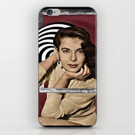 Coming Out of Her Frame iPhone Skin