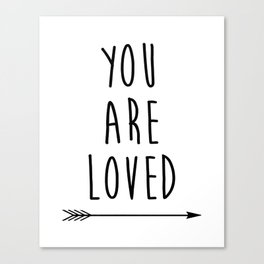 You Are Loved Printable Art, Nursery Art, Black and White Art, Arrow Art, You are So Loved Word Art, Canvas Print
